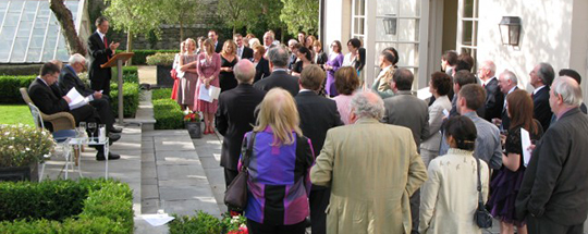 2009 scholarship award ceremony at the residence of the Canadian Ambassador to Ireland