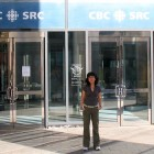 Karishmeh Felfeli at the Canadian Broadcasting Corporation building in Toronto
