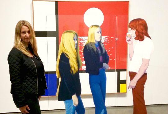James M. Flaherty Visiting Professor, Dr. Janine Bosak, enjoying a visit to the Musée D'Art Contemporaire de Montréal