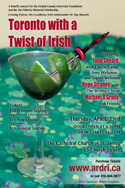 Toronto with a Twist of Irish concert evite