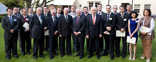 2012 scholarship award ceremony at the residence of the Canadian Ambassador to Ireland.